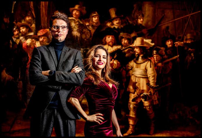 Portret van Jaap Godrie en Iris Frederix, coaches van project Rembrandt voor de Nachtwacht.