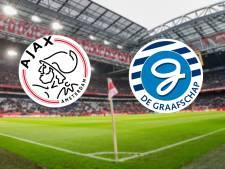 Ajax ontvangt hekkensluiter De Graafschap