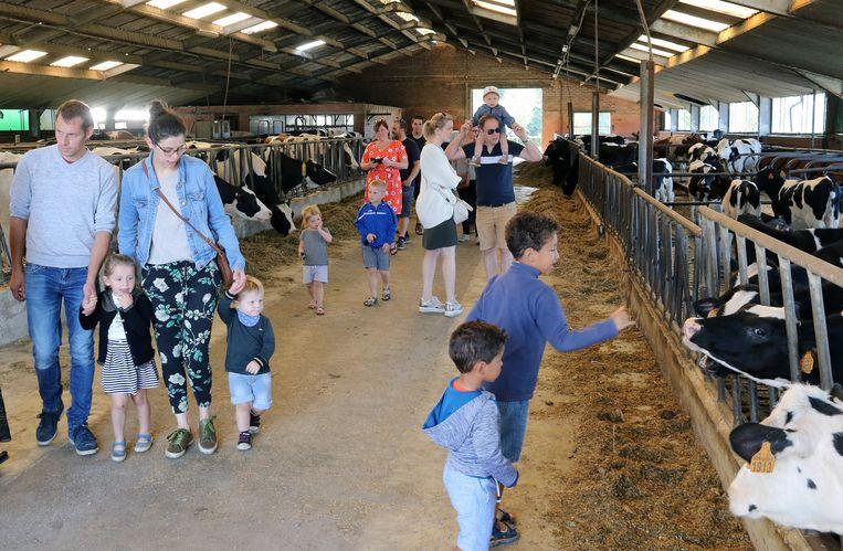 Het melkveebedrijf kreeg vele bezoekers over de vloer tijdens de Dag van de Landbouw