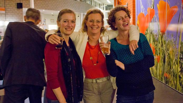 Wendy van Offeren, Lia Bouma en Margriet van der Heijden: ,,Leuk initiatief.''