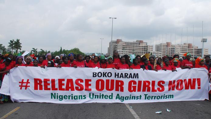 Manifestation à Abuja, la capitale nigériane.