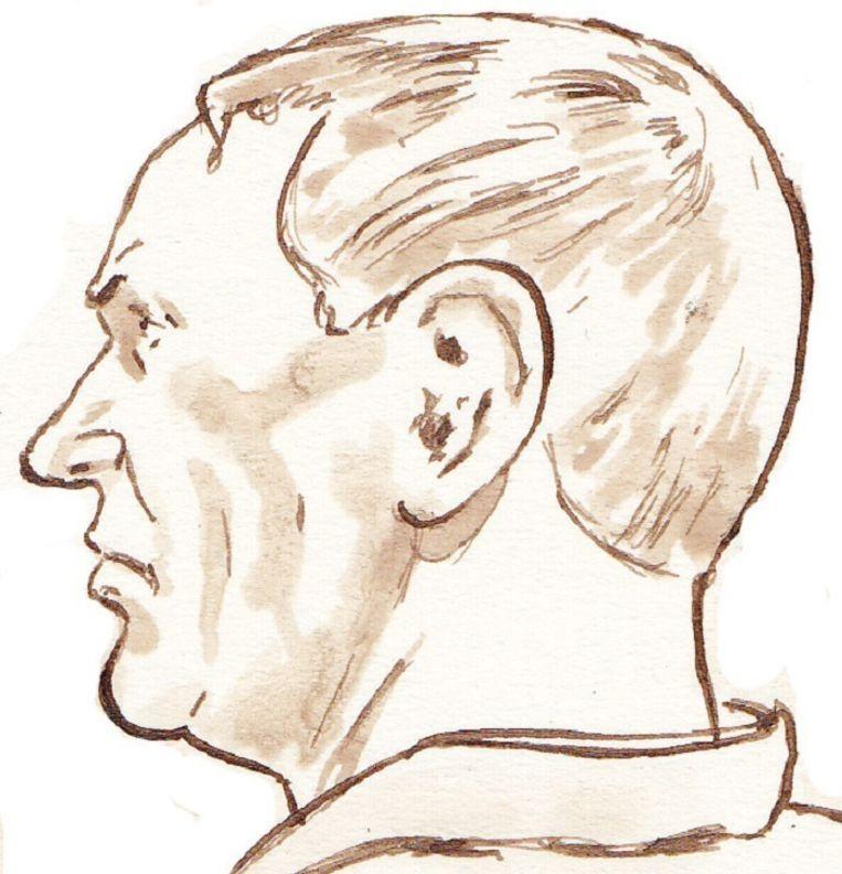 Rechtbanktekening van Dick V. Beeld null