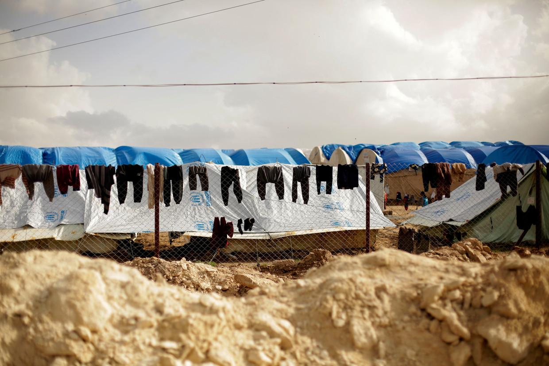 Het vluchtelingenkamp van Al-Hol in Syrië.