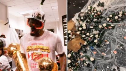 De stevige feestnacht van Toronto Raptors: honderden flessen champagne, ook Lukaku laat van zich horen