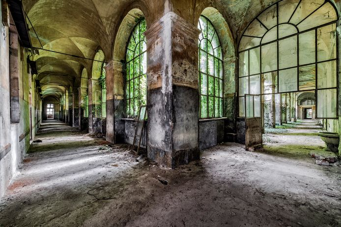 Manicomio Di R, een voormalig psychiatrisch ziekenhuis in het noorden van Italië.
