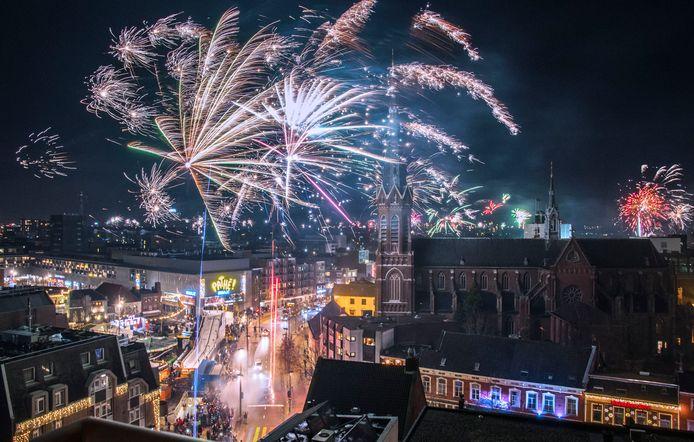De jaarwisseling 2018/2019 in Tilburg.
