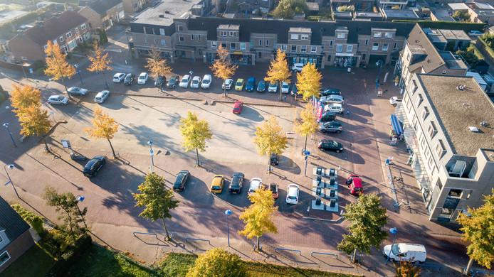 Het centrum van Ewijk van boven.