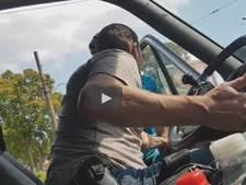 VIDEO | Wielrenner komt verhaal halen bij chauffeur in Arnhem