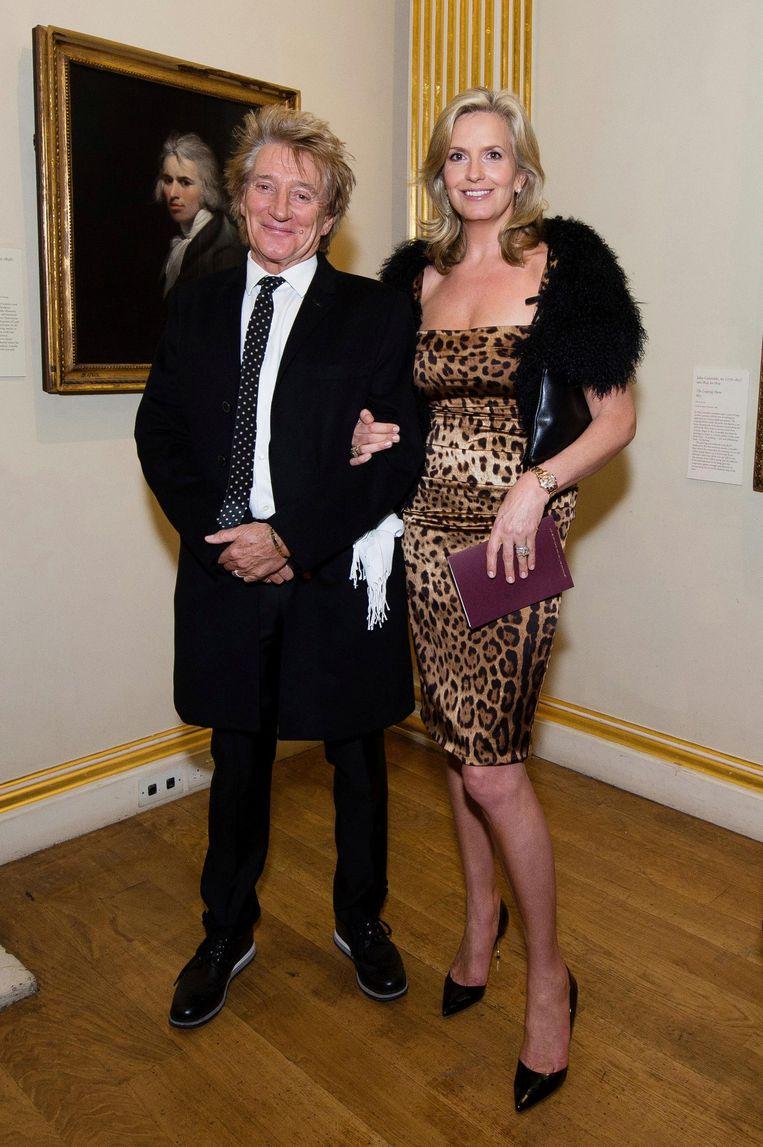 Rod Stewart en Penny Lancaster bij de Royal Academy of Arts in London, 11 oktober 2016. Beeld reuters