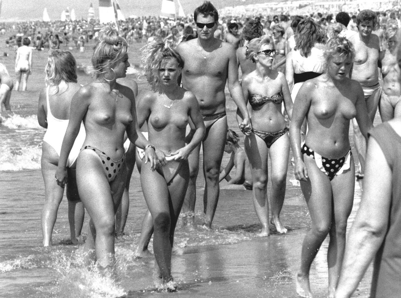 Het strand van Zandvoort in 1989