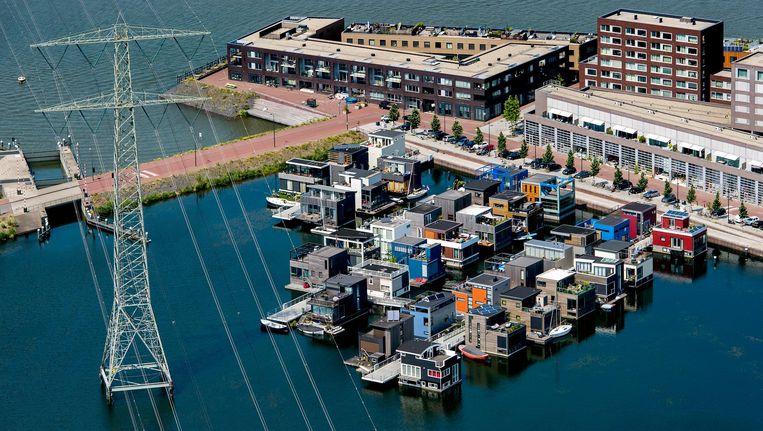 Luchtfoto van IJburg. Beeld anp