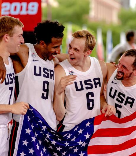 Amerikaanse 3x3-basketballers wereldkampioen in Amsterdam