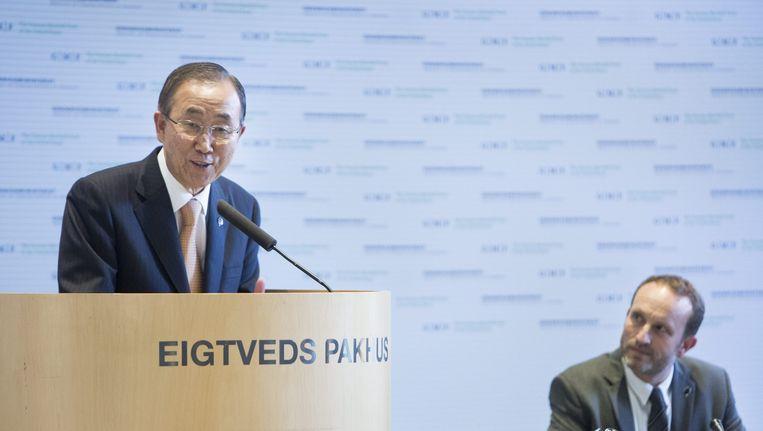 VN-chef Ban Ki-Moon in Kopenhagen. Beeld anp