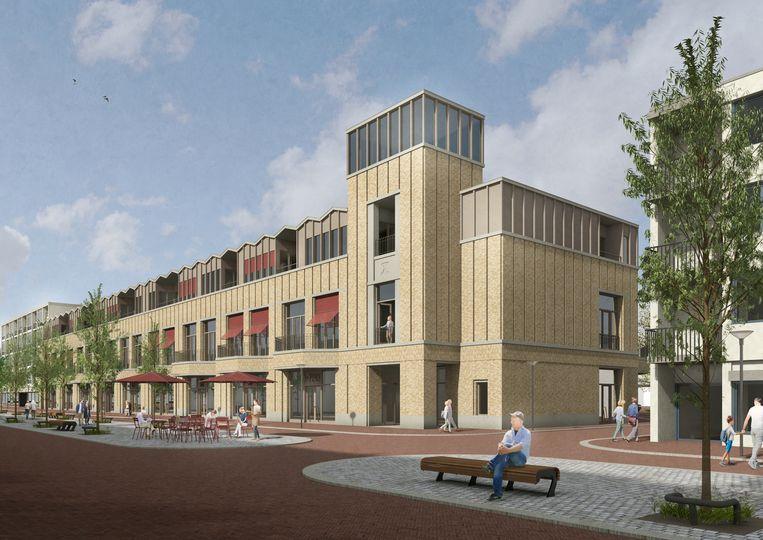 De voormalige V&D in Den Helder, dat onder handen wordt genomen door Happel Cornelisse Verhoeven Architecten. Beeld HCVA