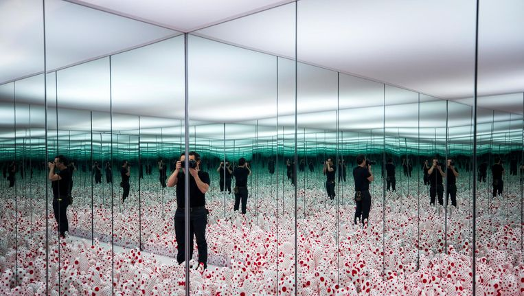 De Instagramsensatie van Kusama, te zien in Museum Boijmans Van Beuningen Beeld anp