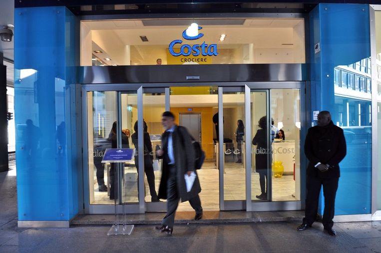 Het hoofdkantoor van Costa Concordia. Beeld epa