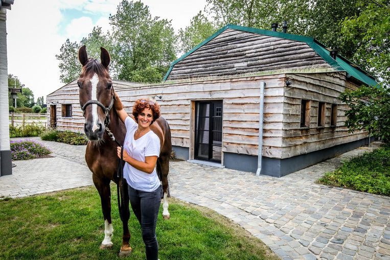 Julie Mourisse laat naast gasten ook paarden toe in haar B&B Extra Verte.