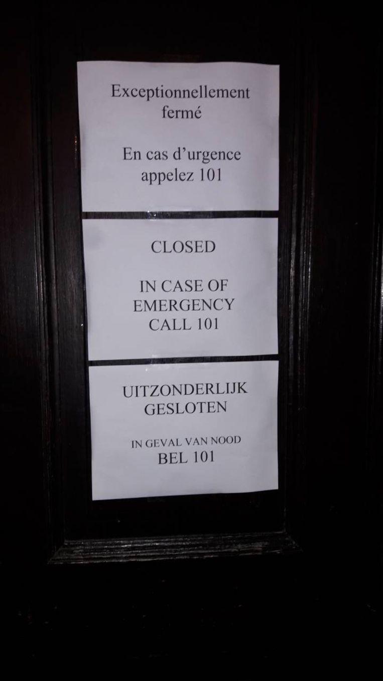 Het commissariaat op de Brusselse Kolenmarkt is vanavond gesloten.