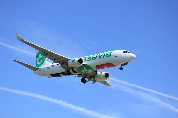 Een Boeing 737 van Transavia.