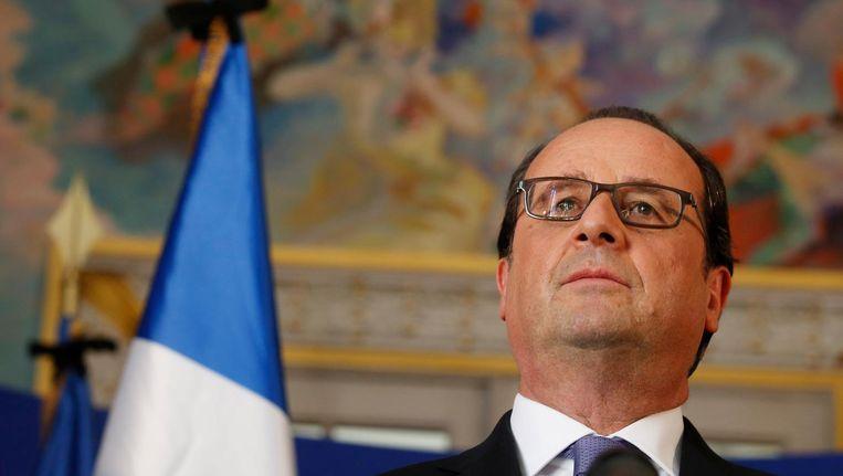 De Franse president Hollande. Beeld epa