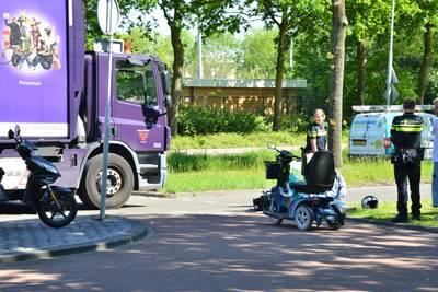 Man in scootmobiel gewond na ongeluk in Breda