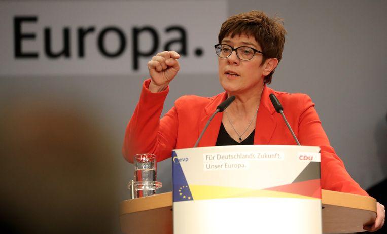 Annegret Kramp-Karrenbauer, in de media ook wel 'AKK' genoemd.