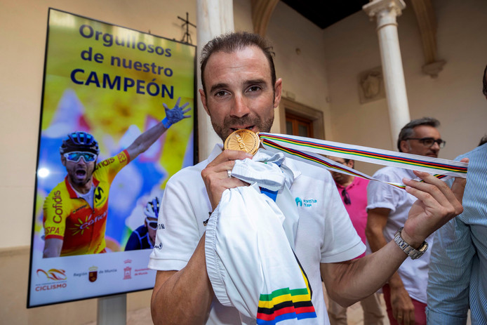 Alejandro Valverde, de wereldkampione van 2018.