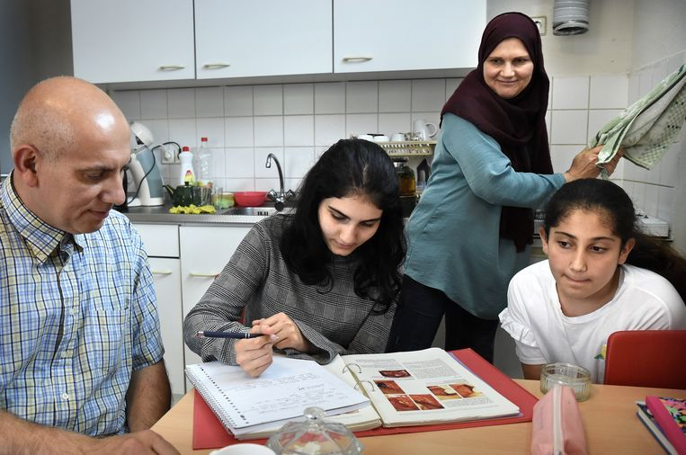 Familie Al Neema uit Irak. Beeld null