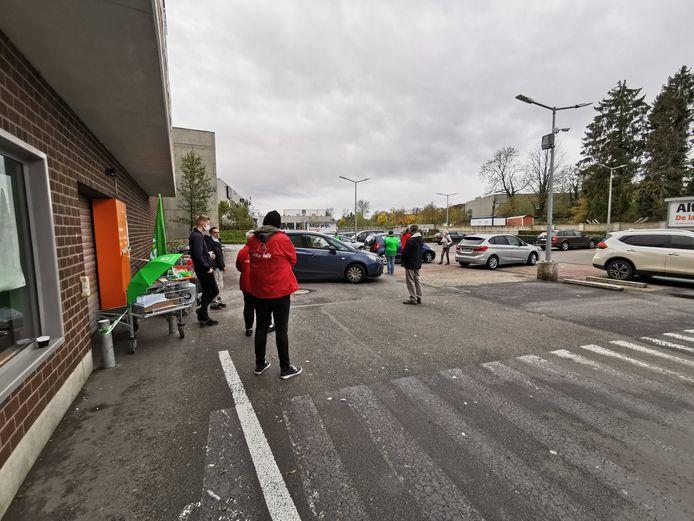 Door een vakbondsactie bleef de Colruyt in Alsemberg gesloten vandaag.