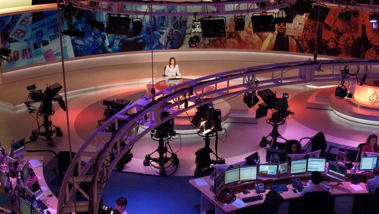 Studio van Al Jazeera in Doha (Qatar). Beeld Flickr/ Paul Keller