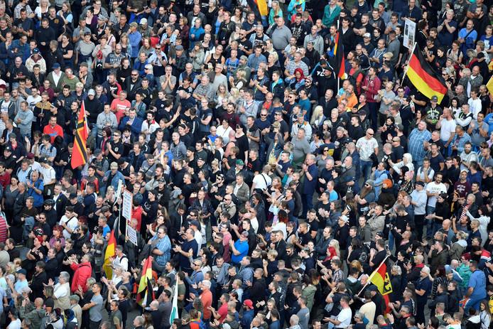 Een eerdere gewelddaad in Chemnitz bracht veel boze Duitsers op straat.
