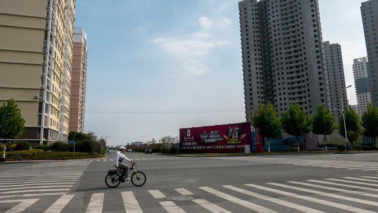 De nieuwe wijk bij het handelscentrum van Dadong is nog leeg. Beeld Zhang Peng, Getty Images