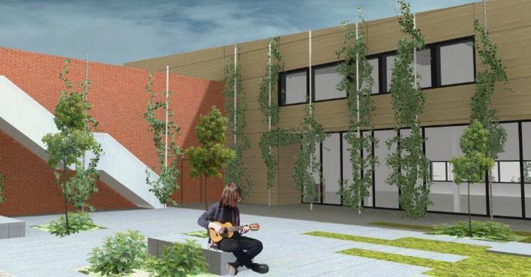 Een eerste impressie van hoe het vernieuwde ontmoetingscentrum Berkenhof eruit zal zien.