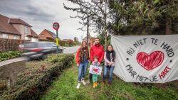 """Verkeersellende door werken, bewoners counteren met positieve actie: """"Rij met je hart"""""""