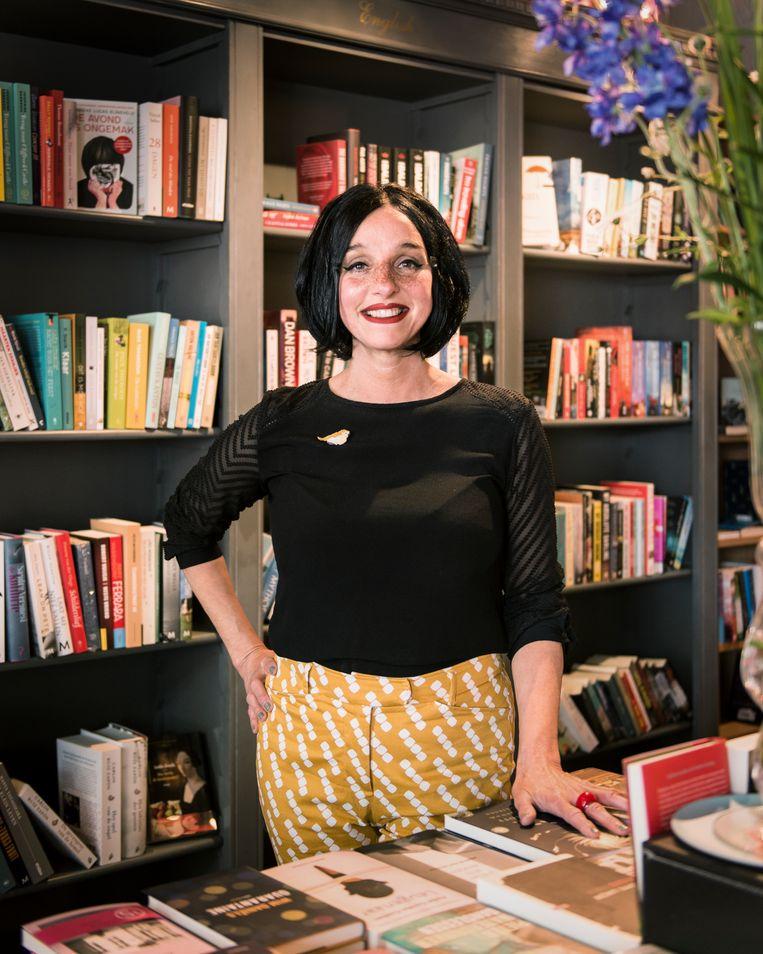 Boekhandelaar Margreet de Haan.   Beeld Eva Faché