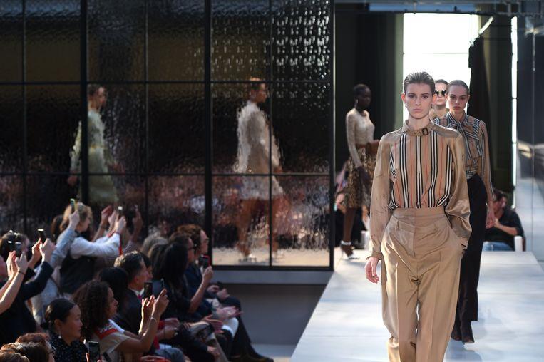 Archiefbeeld: modeshow van Burberry tijdens London Fashion Week eerder dit jaar.