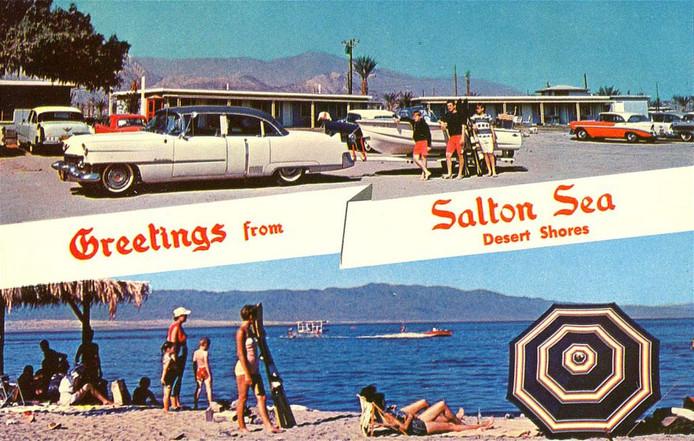 La Salton Sea à l'époque où elle était une station balnéaire agréable.