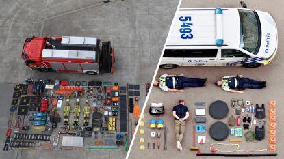De #tetrischallenge gaat viraal: hulpdiensten delen fascinerende foto's van 'uitgeklede' voertuigen