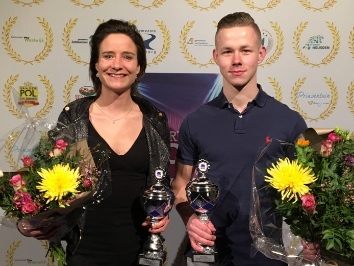 Sportverkiezing Wijk en Aalburg Marianne Vos (sportvrouw) en Rick Sonnema (sportman)