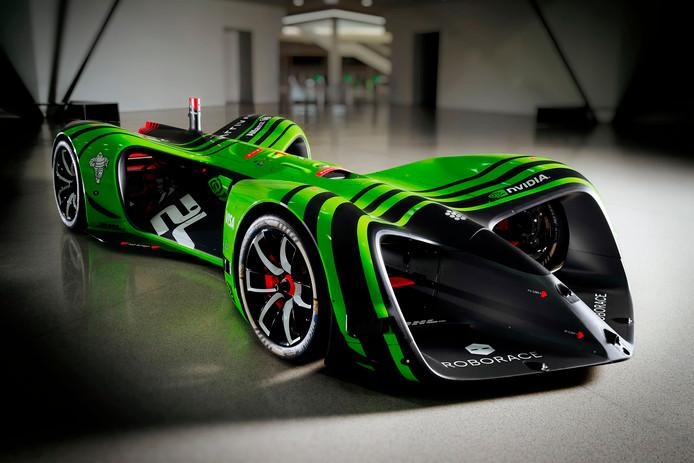 Geen coureur, maar wel kunstmatige intelligentie: de raceauto van Roborace.