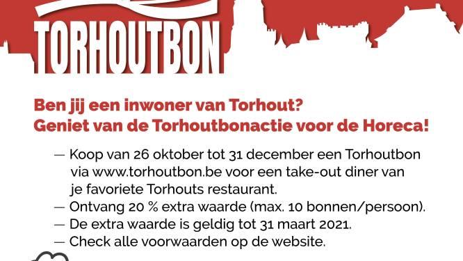 Bij aankoop van Torhoutbon gaat 20 procent naar de horeca