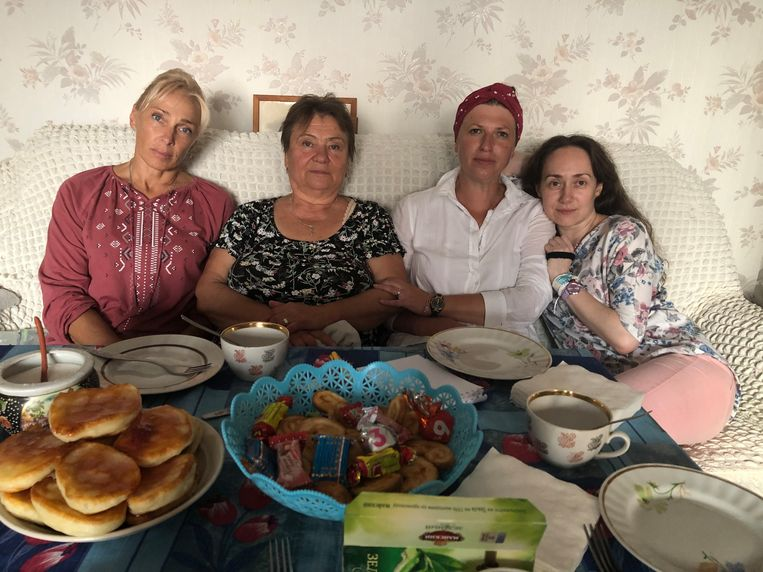 V.l.n.r.: Alla Kondratenko, Maria Alieva, Olga Rachmanova, Jevgenia Ivanova. Beeld Michiel Driebergen