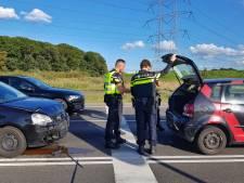 Kop-staart-botsing in Tilburg: een persoon lichtgewond