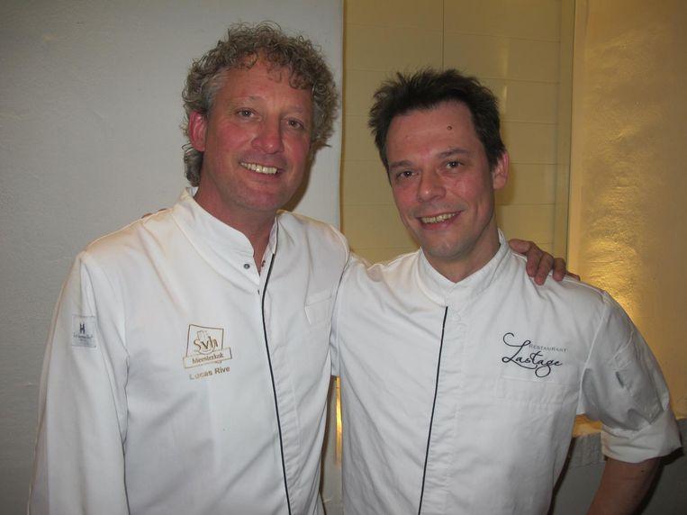 Lucas Rive en Rogier van Dam Beeld Frank Kromer