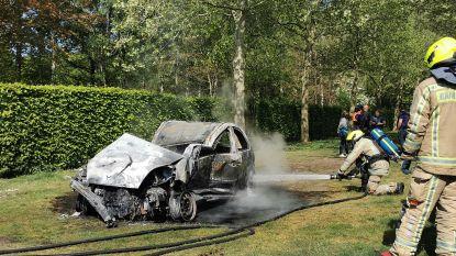 Koelbloedige bewoner voorkomt erger door brandende wagen met grijpkraan weg te slepen naar tuin