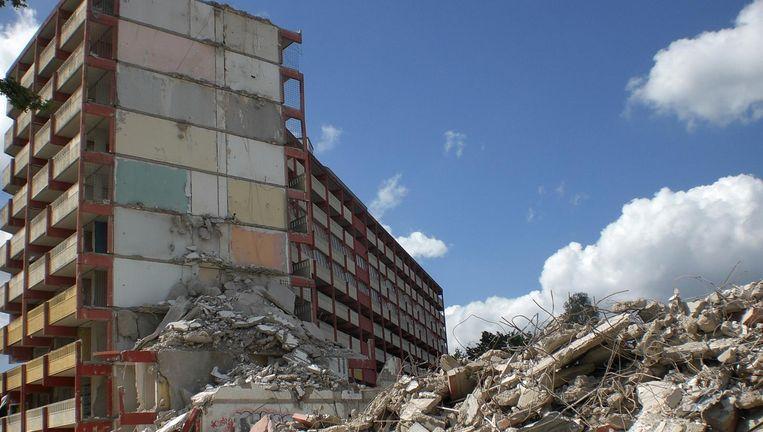 Afgebroken flats in de Bijlmer. Beeld Sergio Felter