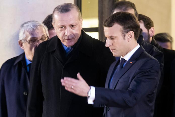05.01.2018 - De Turkse president Recep Tayyip Erdogan en zijn Franse collega president Emmanuel Macron.