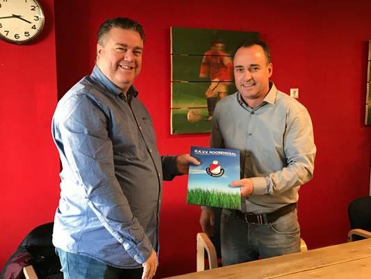 Peter Sweres (rechts) met Jeroen van Beers (voorzitter).