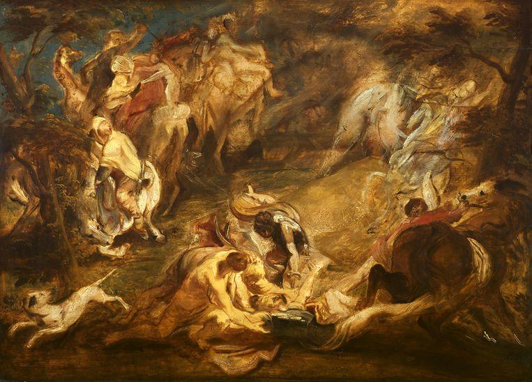 Rubens: De bekering van Paulus, ca. 1610-1614, olieverfschets. Beeld The Courtauld Gallery, Londen