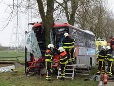 Lijnbus crasht tegen boom in 's-Gravenmoer: vijf kinderen gewond, chauffeur ernstig aan toe